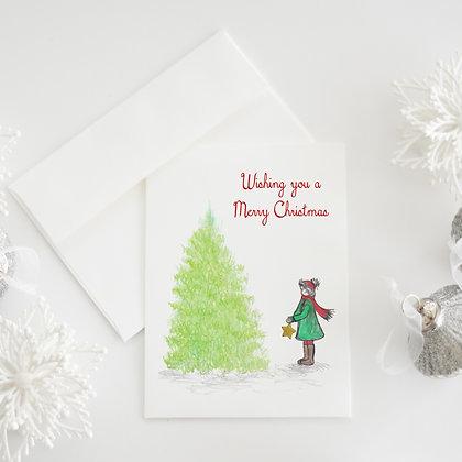Gold Tree Star Card