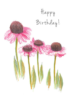Pink Poppies Card