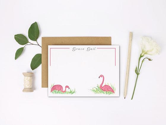 Fancy Flamingos Flat Note