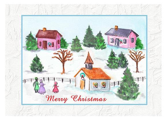 Christmas Village Card