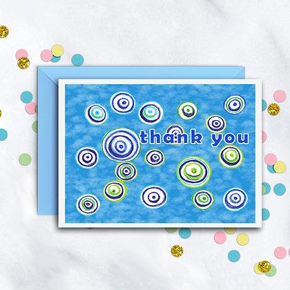 Swirly Circles TY Notecard