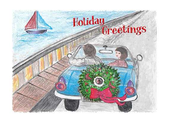 Coastal Holiday Card