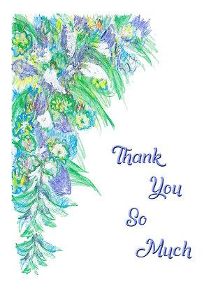 Lavender Floral Card