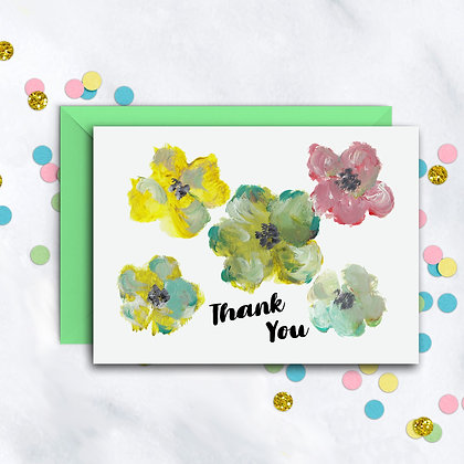 Colorful Floral TY Notecard