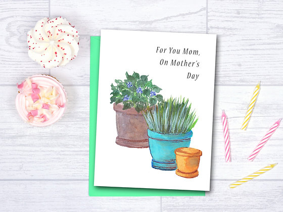 Potted Plants Card