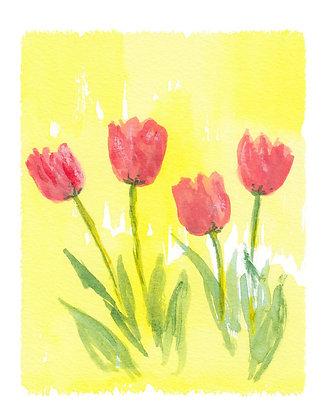 Pretty Tulips Notecard