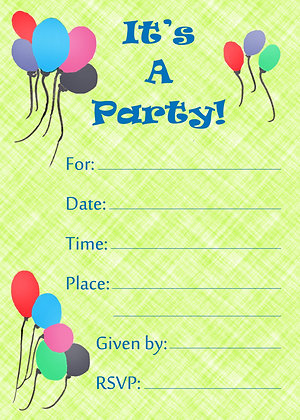 It's A Party Invitation