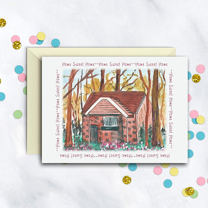 Home Sweet Home Cottage Card