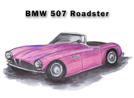 BMW 507 Roadster Card