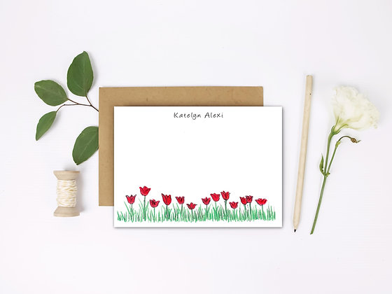 Dazzling Tulips Flat Note