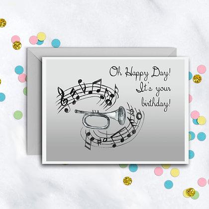 Birthday Trumpet Card