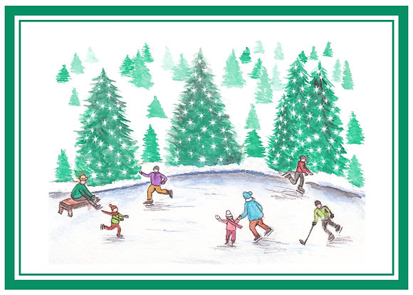 Ice Skaters Card