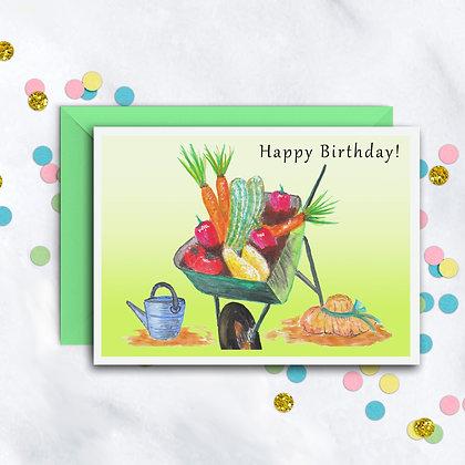 Garden Harvest Card