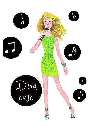 Diva Chic Art Print