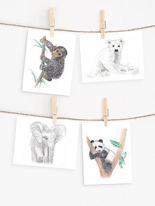 Zoo Friends Note Set