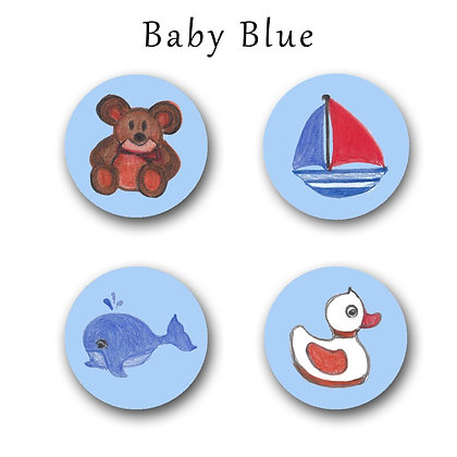 Baby Blue Button Magnets
