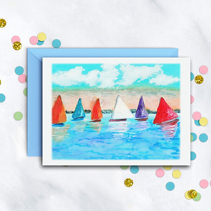 Sails On The Sea Notecard