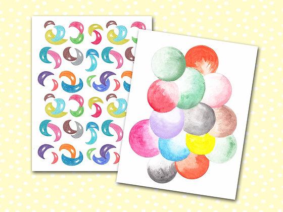 Colorful Shapes Pocket Notebooks