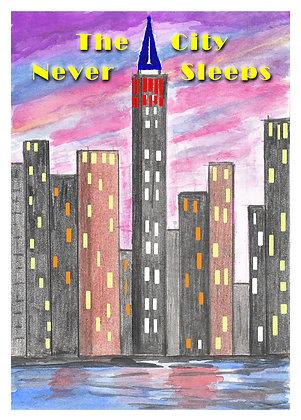 The City Never Sleeps Card