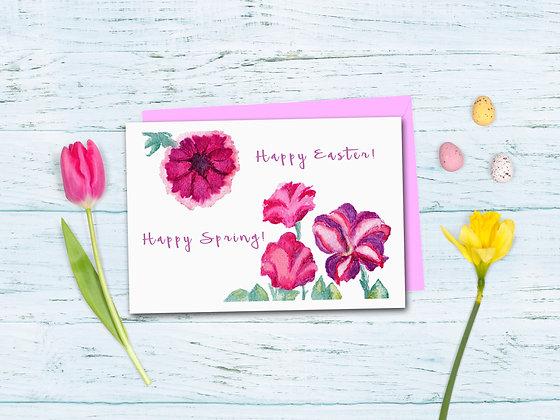 Pink Petunias Card