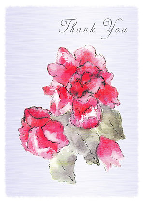 Thank You Roses Card