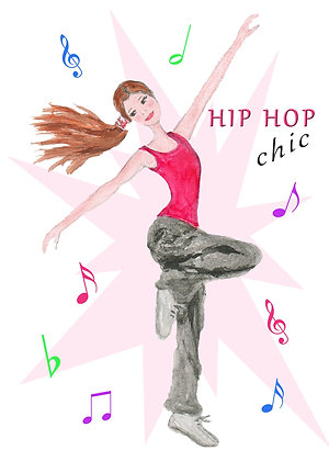 Hip Hop Chic Card