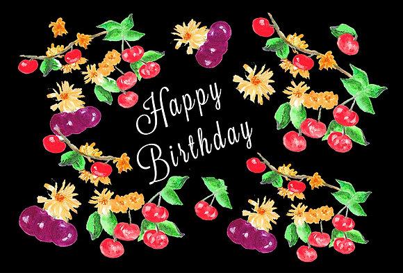 Birthday Berries Card