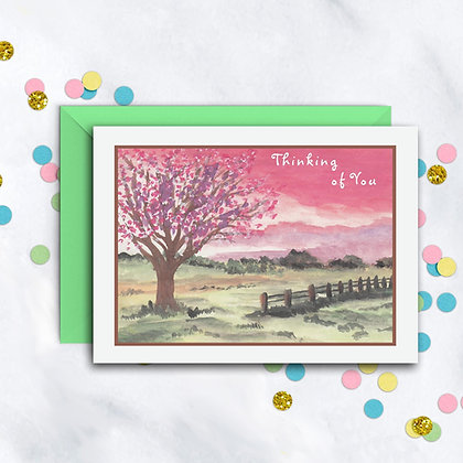 Country Sunset Card