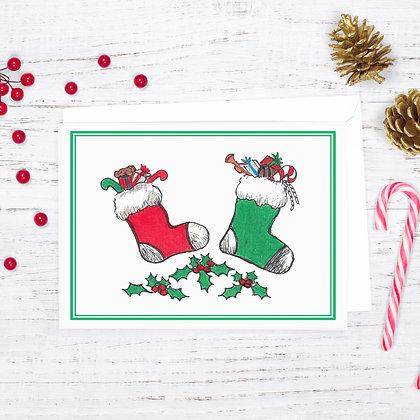 Holiday Stockings Card
