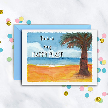 Happy Place Card