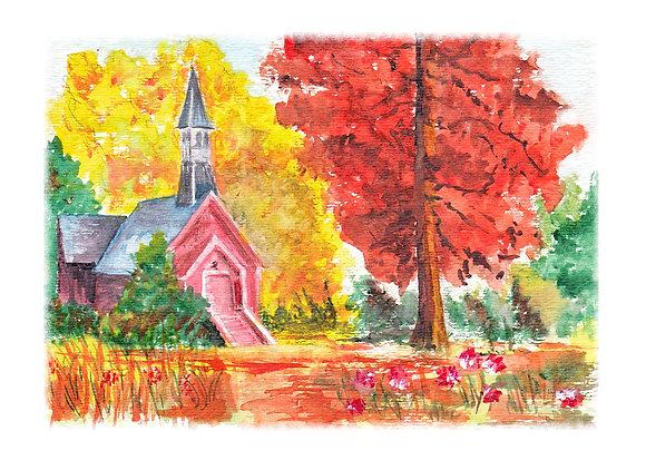 A Beautiful Fall Day Art Print