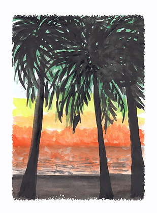 Tropical Palms Art Print