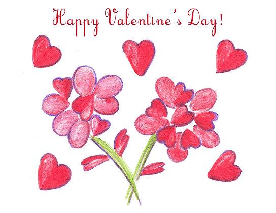 Heart Flowers Card