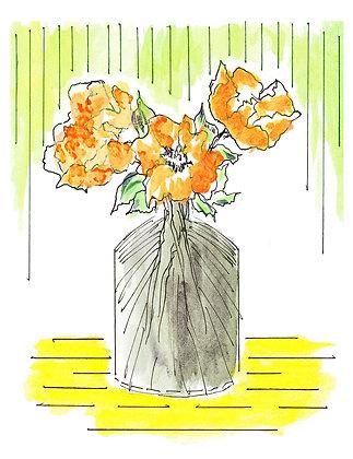 Flowers In Vase Notecard