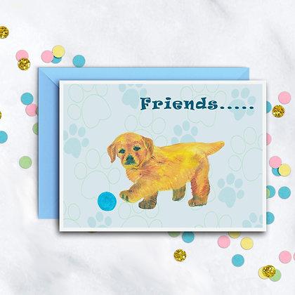 Puppy Friend Card