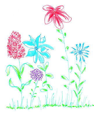 Floral Whimsy Notecard