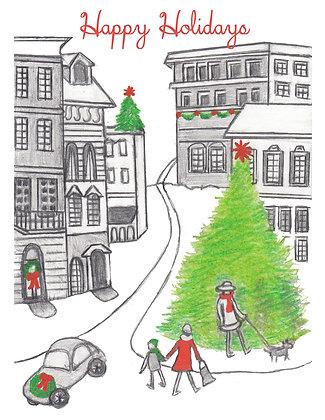 Downtown Christmas Card