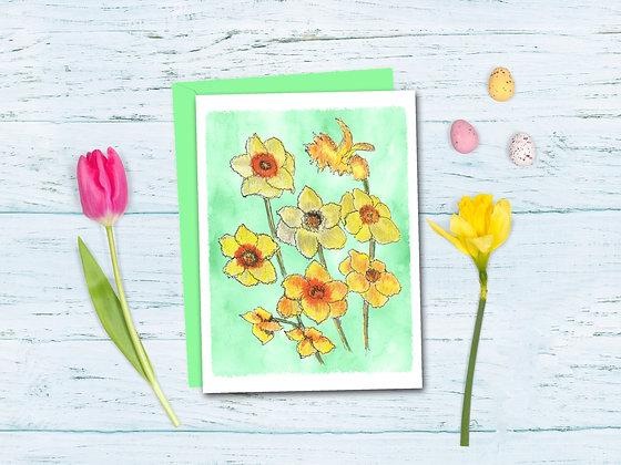 Dancing Daffodils Card