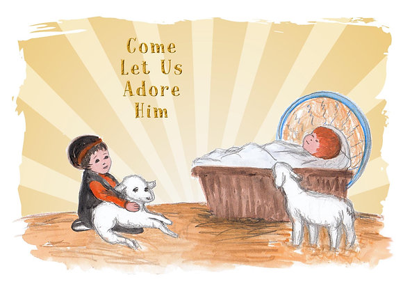Come Let Us Adore Him Card
