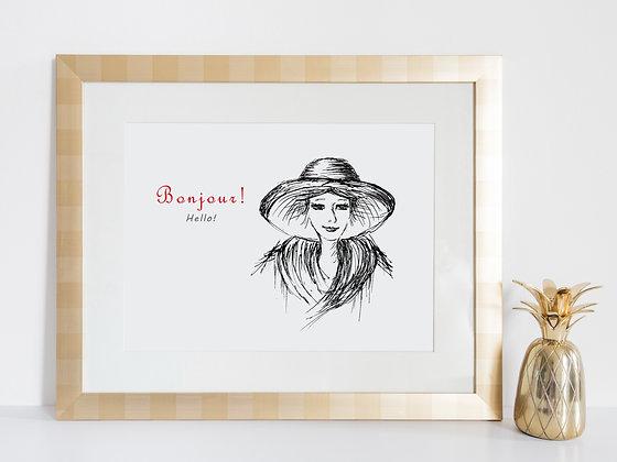 Bonjour Art Print