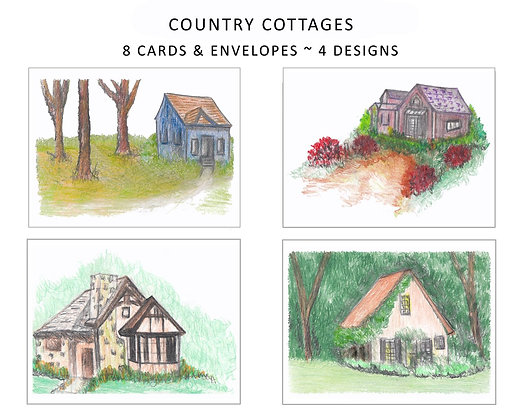 Country Cottages Note Set