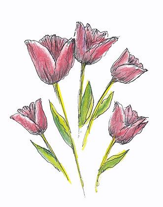 Sweet Tulips Art Print