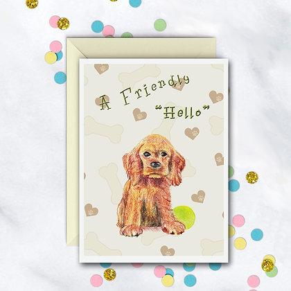 """A Friendly """"Hello"""" Card"""