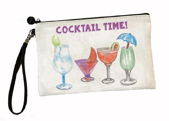 Cocktail Time Wristlet