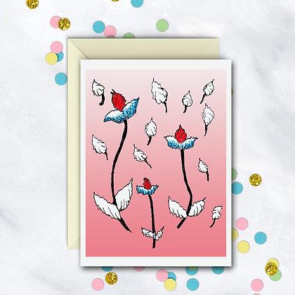 Unique Design Notecard