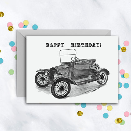 Old Time Car Card