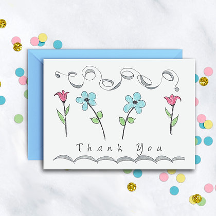 Fanciful Flowers TY Notecard