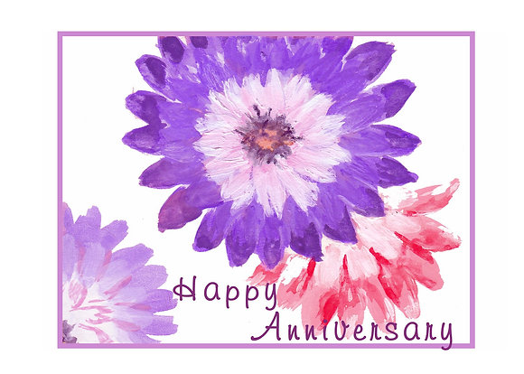 Purple Flower Card