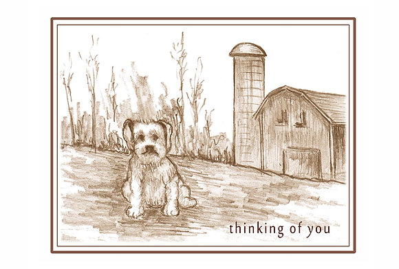 Thoughtful Puppy Card