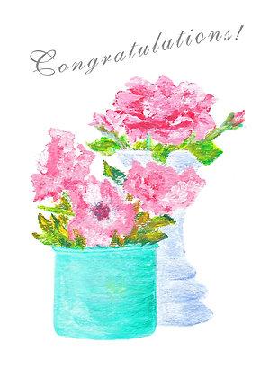 Congratulations Roses Card